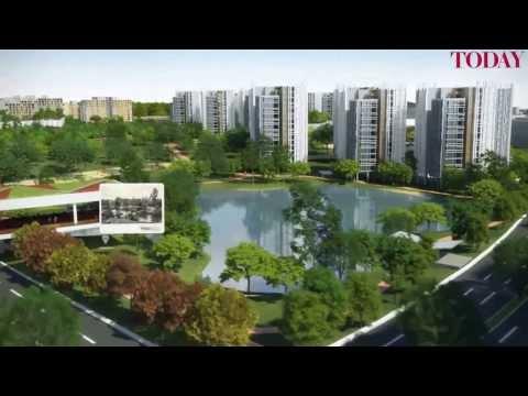 HDB fly through of Bidadari development plan