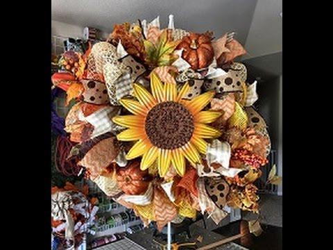 Fall Deco Mesh Wreath