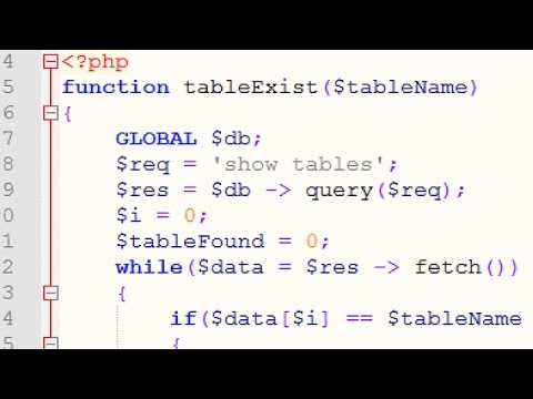 check if mysql table exists with php