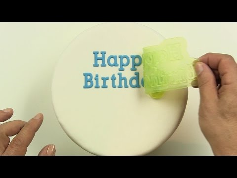 Happy Birthday On a Cake, Easy Perfect Cake Decorating with Flexabets™