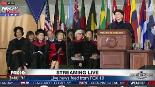 """Hillary Clinton on How She Coped with Election Loss (""""Chardonnay Helped"""") @ Wellesley Commencement"""