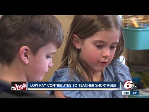 Low pay contributes to the teacher shortage in Indiana