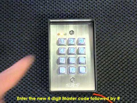 DC60SS Access Control Keypad - Changing the Master code