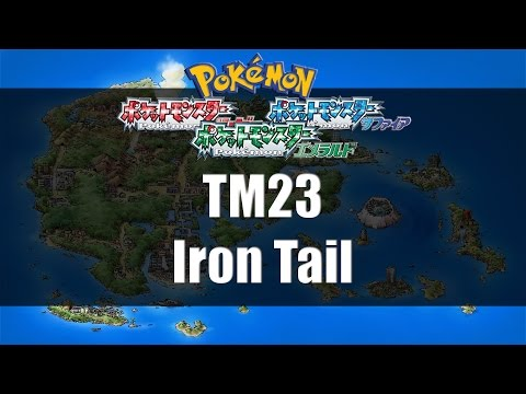 Pokemon Ruby/Sapphire/Emerald - Where to find TM23 Iron Tail