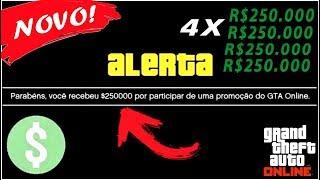 Rockstar dando dinheiro de graça para os jogadores do GTA 5 ONLINE (R$1.000.000)