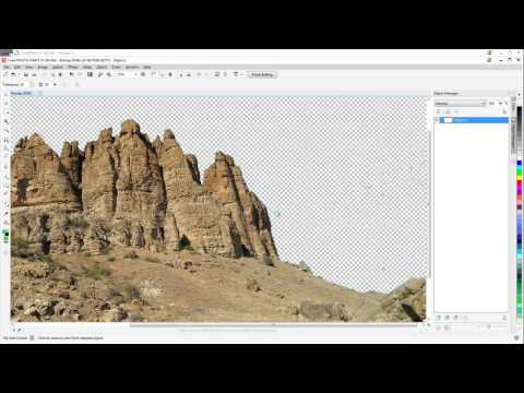 COREL DRAW X7 TUTORIAL - REMOVING A BACKGROUND - COLOR TRANSPARENCY TOOL