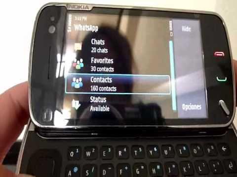 WhatsApp corriendo en Nokia N97