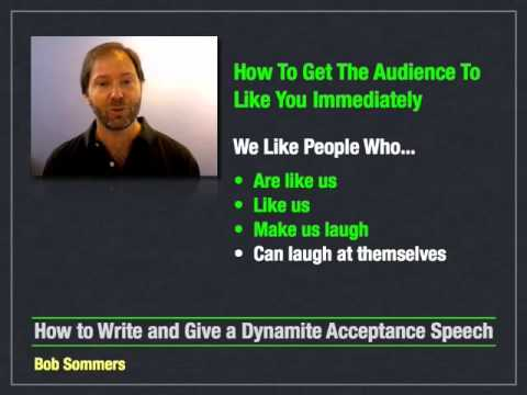 How to Write and Give an Acceptance Speech - 4 of 10