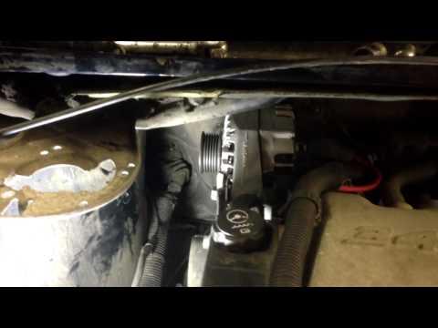 Easy way to change the alternator Montana Van