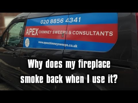 Why does my fireplace smoke back? - Apex Chimney Sweeps
