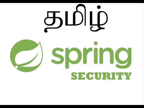 TAMIL SPRING SECURITY FRAMEWORK SAMPLE APPLICATION DEMO