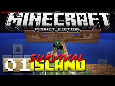 WHERE AM I!? - MCPE SURVIVAL ISLAND #1 - Minecraft PE (Pocket Edition)