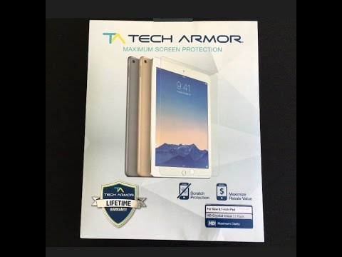 Tech Armor HD Crystal Clear (2 Pack) Screen Protectors Unboxing & Install For The New iPro Pro 9.7