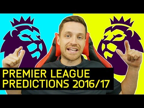 MY 2016/17 PREMIER LEAGUE PREDICTIONS - IMO #27