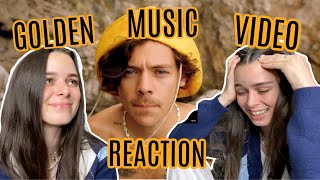 reacting to harry styles 'golden' music video
