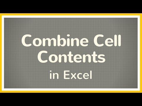 How to Combine Contents in Cells in Excel - Tutorial