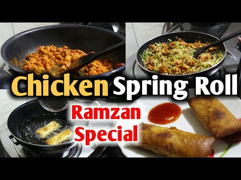 CHICKEN Spring Roll Recipe in hindi (RAMZAN SPECIAL Recipes in HINDI ) Recipe by Well Kitchen