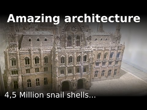 Amazing architecture modeling - Parliament built with 4.5 millions snail shells