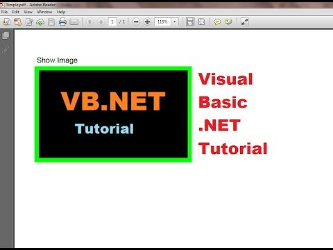 Visual Basic .NET Tutorial 49 - Working with images in iTextSharp PDF file