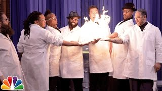 Science Expert Kevin Delaney Lights Jimmy Fallon and The Roots