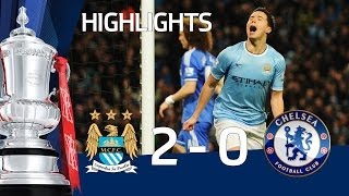 Manchester City vs Chelsea 2-0, Jovetic and Nasri - FA Cup 5th Round goals & highlights