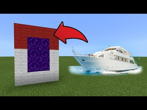 How To Make a Portal to the Boat Dimension in MCPE (Minecraft PE)