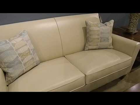 Durable Leather Style Fabric Sofa By Flexsteel - Lainey's Furniture