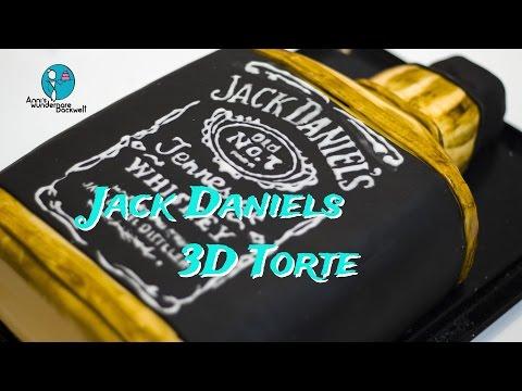 Jack Daniels 3D Torte - Jack Daniel's 3D Bottle cake  motivtorte -- Anni's wunderbare Backwelt