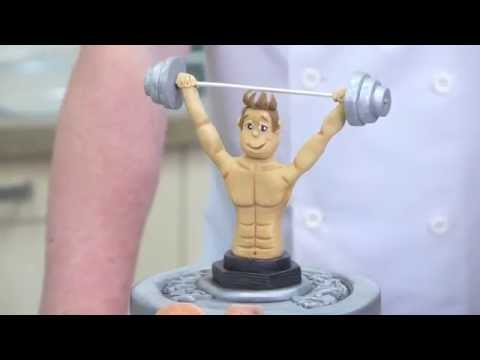 Weightlifting, Fitness Fan, Gym Cake Preview | Paul Bradford Sugarcraft School