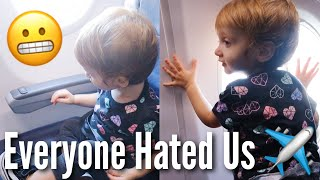 First Plane Ride with a Toddler *chaos*   Teen Mom Vlog