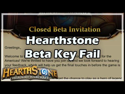 [Hearthstone] HS Beta Key Fail