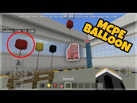 Minecraft PE: How to Get a Working Balloon (Chemistry Update)