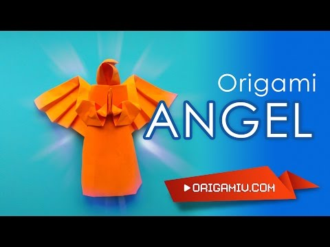 How to make an angel out of paper - Origami Neal Elias