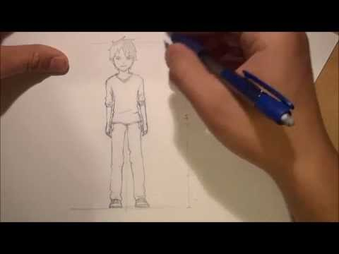 How To Draw Anime Male Body Proportion