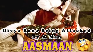 Divya Rana Being Attacked By A Man |  Aasmaan Action Hindi Movie