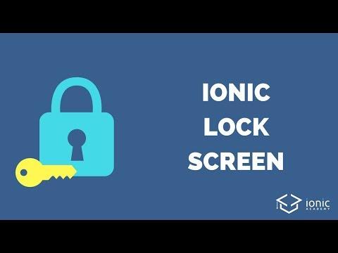 Ionic Lock Screen Authentication