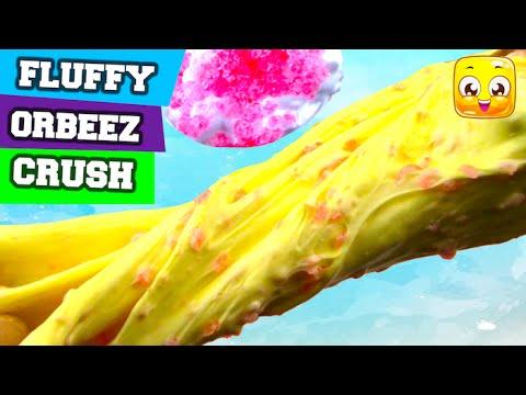 How To Make Fluffy Orbeez Slime DIY No Borax, Liquid Starch, Eye Drops, Baking Soda