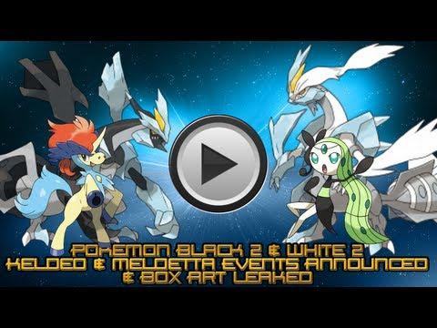 Pokemon Black 2 & White 2 - Keldeo & Meloetta Events Announced & Box Art Leaked