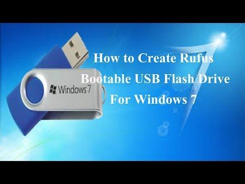 how to create bootable usb windows 7 using rufus
