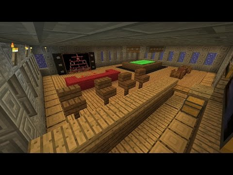 Minecraft Tutorial: How To Make An Awesome Man-Cave Survival House (ASH#21)