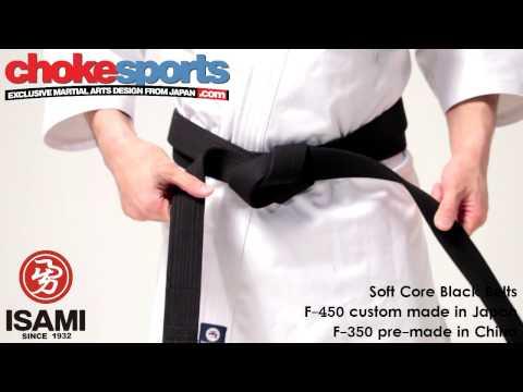 Black Belt Soft Core F-450 F-350 BJJ Karate Judo Aikido Isami ChokeSports