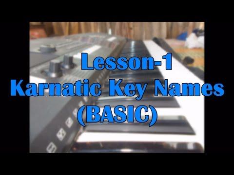 Key Names(Karnatic ) -lesson 1   Keyboard CLass In Tamil