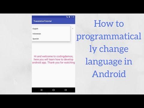 Android change app language programmatically (Demo)