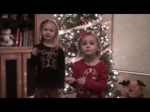 Little girls singing jingle bells gone wrong - equipment malfunction.