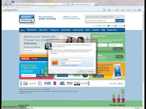 Logging on and Accessing Help and Support Page - Internet Explorer