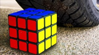 Experiment Car vs Rubik's Cube, Candy Ice Cream | Crushing Crunchy & Soft Things by Car