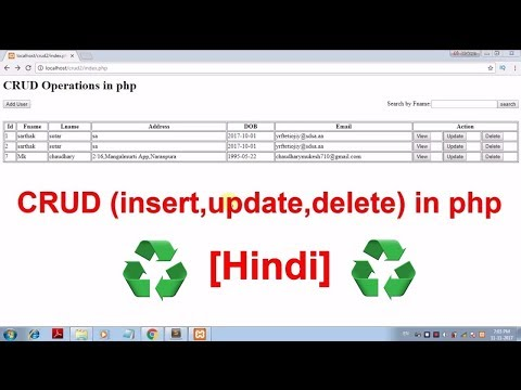 CRUD in php with OOP concept in hindi [for beginners]
