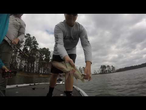 Bass fishing Lake O' The Pines trailer