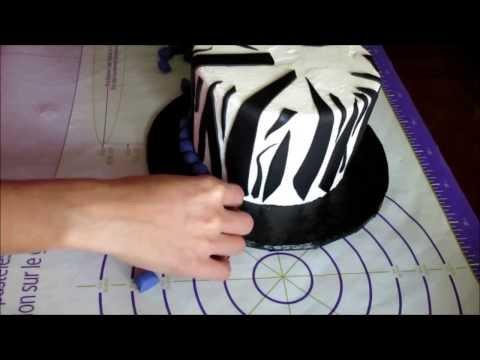 How to make Zebra print on buttercream