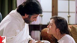 Scene - Mohabbatein | Aap iss duniya ke sabse acche papa hai | Amitabh Bachchan | Aishwarya Rai